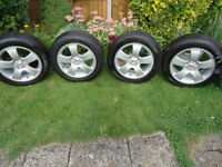 4 x 16 ALLOY Wheels and TYRES WILL FIT VW Pollo Golf Bettle PCD5 x100