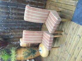 Next striped fabric chairs