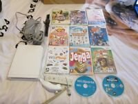 wii console bundle,12 games,wii remote,nunchuck all leads
