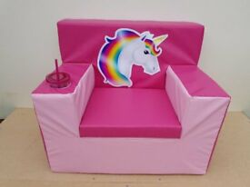 childrens soft play chairs unicorn choice of two can have it personalised for a gift