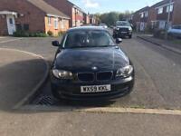 Black BMW 1 series 116d s