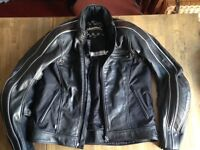 Halvarssons leather motorbike jacket - excellent condition