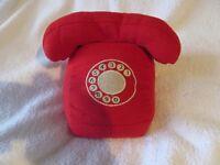 RED DOOR STOP IN DESIGN OF RETRO TELEPHONE