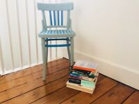 """""""Blooming in Blue"""" Vintage Upcycled Wooden Chair"""