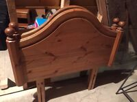 A PAIR OF SINGLE BED WOODEN HEADBOARDS - £20 EACH
