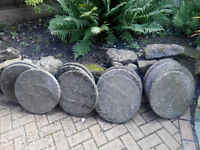 STEPPING STONES - 17 inches in diametre -