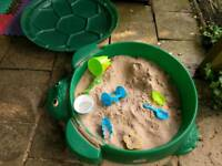 Sandpit turtle shape