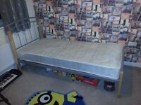 Aztec Oak And Aluminium Bed Frame and mattress - Single