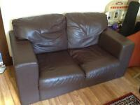 2 leather couches FREE