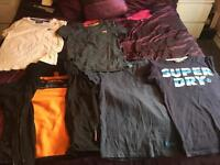 Superdry jacket and t-shirts