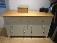 Bedroom chest of drawers and matching bedside units