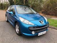 PEUGEOUT 2017 1.4 SPORT VVTI 10 REG IN MIAMI BLUE WITH BLACK TRIM SERVICE HISTORY AND MOT MARCH 2019