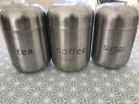 Stainless steel containers, set of 3