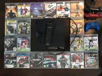 playstation 3 with 20games 250gb 3 controllers two of them tiny chewed see in pic.