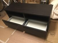 IKEA TV stand - two shelves and two drawers - dark brown