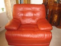 2 SEATER SOFA & ARMCHAIR RECLYNING EXCELLENT CONDITION
