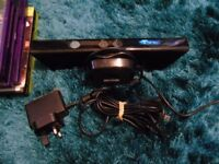 Xbox 360 Kinect Sensor & games