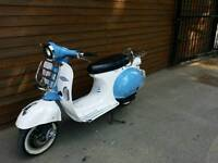 2015 ajs modena 50cc retro vespa vintage style mot until Aug 2018