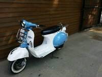 2015 ajs modena 50cc retro vespa vintage style mot until Aug 2018