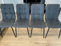 BRAND NEW - 4 Dining Table Chairs - Assembled but not used