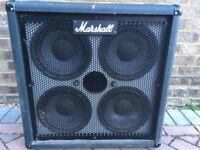 Marshall 4x10 Jubilee bass speaker cabinet (model: 1540, S/N 1908)