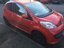 Peugeot 107- Red - 89600 Miles