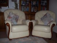 Leather furniture, cream, excellent cond. Buyer collects. Cash only