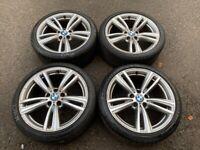19'' GENUINE BMW 4 SERIES M SPORT 3 442 ALLOY WHEELS TYRES ALLOYS 5X120