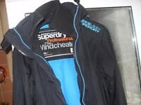 SUPERDRY HOODED WINDCHEATER AS NEW COST £140 SIZE MEDIUM