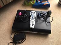Sky + HD box, remote, wi fi box, and all cables