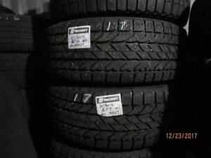 215/60R16 SET OF 4 USED BF GOODRICH TIRES ON MULTI FIT RIMS