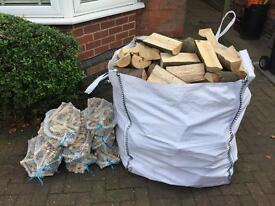 Builders bag of Hardwood Logs