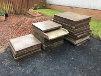 Gravel and slabs