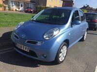 58 PLATE NISSAN MICRA 1,2 PETROL ,12mths M,O,T,, 1OWNER FROM NEW