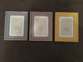 Set of 3 Next photo frames, 6x4