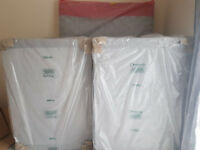 Brand new double bed and mattress for sale (grey divan bed) £180 ono