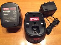 RYOBI BCAH-120S charger and BPH-1215 battery pack
