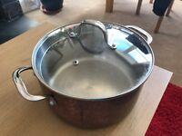 Big copper pot £10