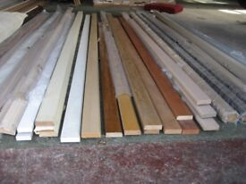 VARIOUS KITCHEN UNIT PELMETS, UPSTANDS, CORNER POSTS ETC, 3M LENGTHS £10 EACH DISCOUNT FOR QUANTITY