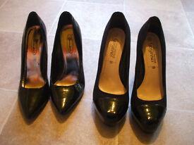 2 pairs ladies heels size 5