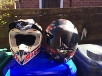 Motorbike helmets x 3