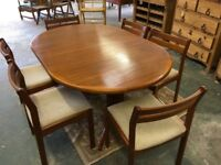 Dining room Table and Six Chairs . By Laurits M Larsens