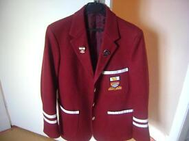 Ayr Academy School Blazer with colours & prefect stripes