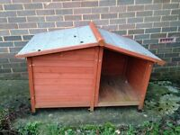 Outside dog kennel / house