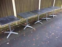 joblot 5 x cafe / bistro tables /micro pub tables / coffee tea room tables indoor outdoor use £100