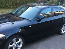 BMW 1 series 2.0 5dr Diesel, hatchback, black. 12 MONTHS MOT, JUST BEEN SERVICED, £30 ROAD TAX