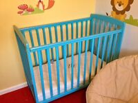 COT AS NEW, ONLY USED FOR A MONTH, WITH UNMARKED MATTRESS