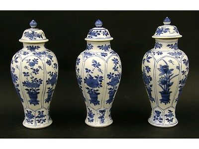 Three 20 cm Baluster Vases from the Vung Tau Wreck circa1690.