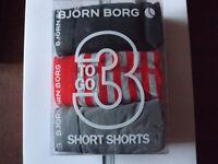 Bjorn Borg White Black, Grey, Red / Grey striped, 3 Boxer Brief Cotton Trunks XL