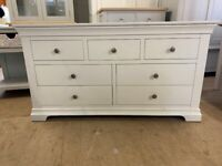 Chantilly Warm White 3 over 4 Drawer Chest